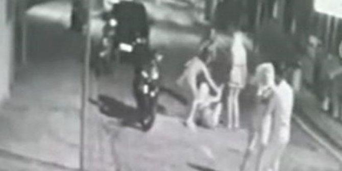 Bodrum'da kadınların kavgası güvenlik kamerasında