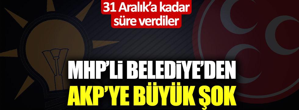 MHP'li belediyeden AKP'ye büyük şok! Belgesi ortaya çıktı