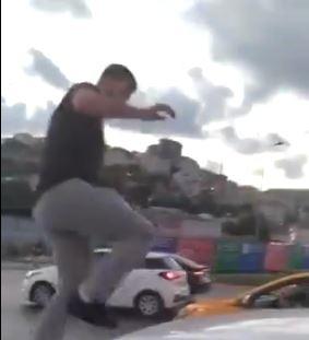 Kadın sürücüye saldıran maganda adliyede