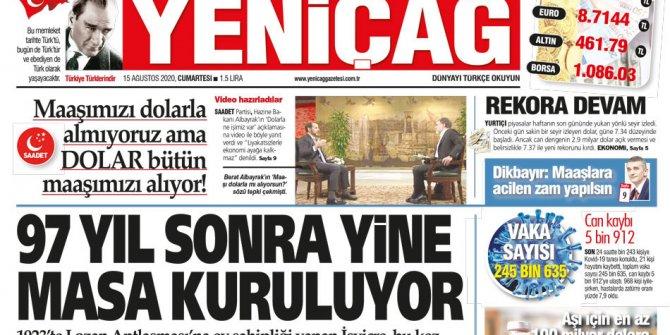 Yeniçağ Gazetesi çok önemli bir sırrı manşetinden açıkladı