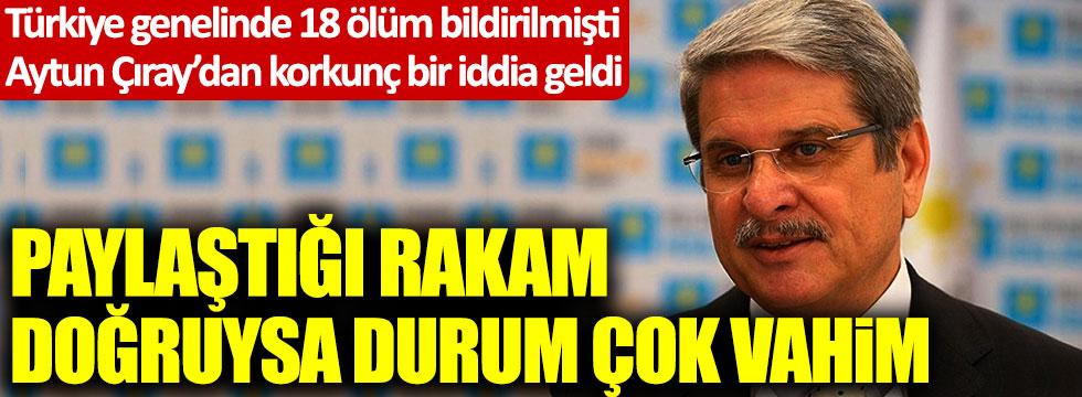 Türkiye genelinde 18 ölüm bildirilmişti, İYİ Partili Aytun Çıray'dan korkunç bir iddia geldi