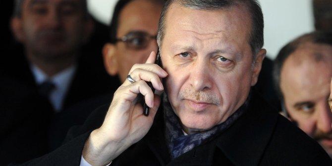 Cumhurbaşkan Erdoğan'dan kritik telefon görüşmesi