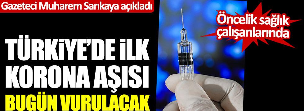 Muharrem Sarıkaya açıkladı: Türkiye'de ilk korona aşısı bugün vurulacak