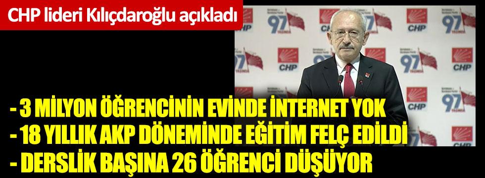 Kılıçdaroğlu: Sözleşmeli, ücretli öğretmen garabeti bitsin