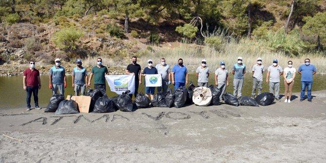 Fethiye'de çevre temizliğinde 850 kilogram atık toplandı