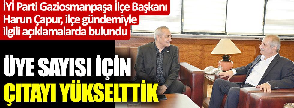 İYİ Parti Gaziosmanpaşa İlçe Başkanı Harun Çapur, ilçenin gündemiyle ilgili önemli açıklamalarda bulundu: Üye sayısı için çıtayı yükselttik