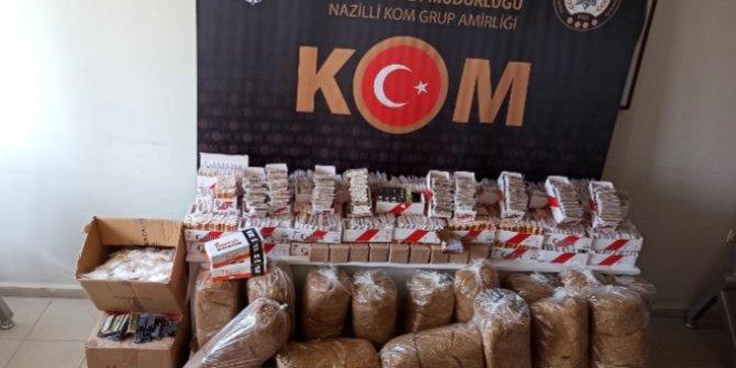 Aydın'da kaçak tütüncülere suçüstü!