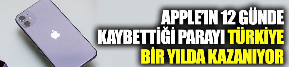 Apple'ın 12 günde kaybettiği parayı Türkiye bir yılda kazanıyor