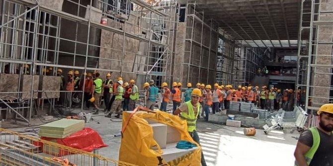 AKM inşaatında büyük skandal iddiası. Ne karantina ne de yemek