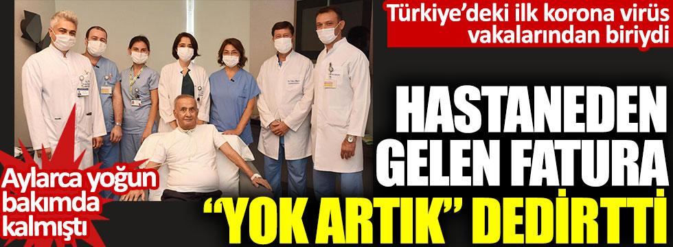 Türkiye'deki ilk korona virüs vakalarından biriydi: Hastaneden gelen fatura dudak uçuklattı