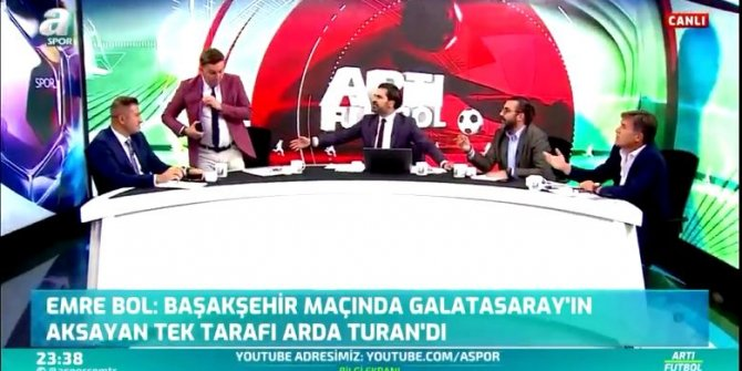Herkes Fatih Altaylı, Ersin Düzen, Ercan Taner tartışmasına kilitlenirken A Spor'da da ortalık birbirine girdi