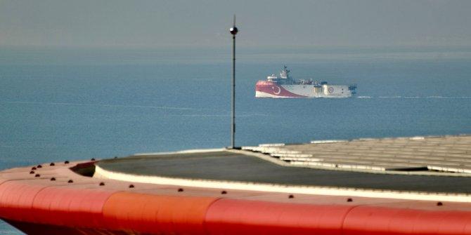 Oruç Reis Antalya Limanı'nda ayrıldı