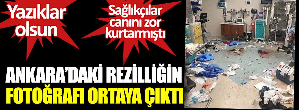 Ankara'da rezilliğin fotoğrafın fotoğrafı ortaya çıktı. Yazıklar olsun. Sağlıkçılar canlarını zor kurtarmıştı