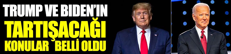 Trump ve Bıden'in tartışacağı konular belli oldu