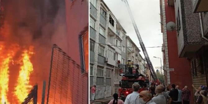 İstanbul'da 5 katlı binada korkutan yangın
