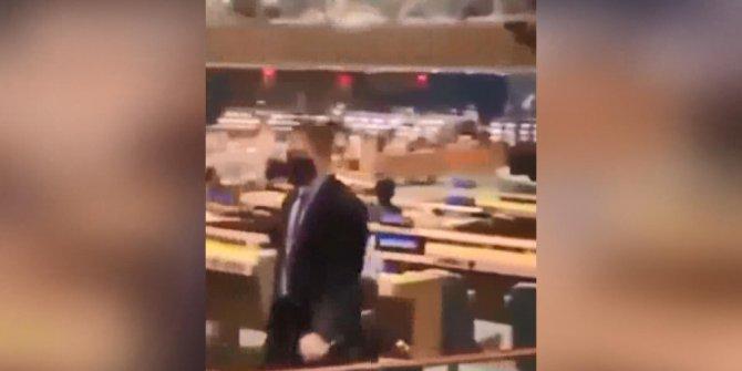 Cumhurbaşkanı Erdoğan konuştu, İsrail Büyükelçisi salonu terk etti