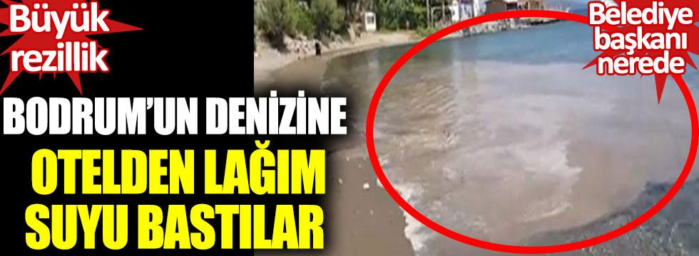 Bodrum'un denizine otelden lağım suyu bastılar. Belediye başkanı nerede? Büyük rezillik