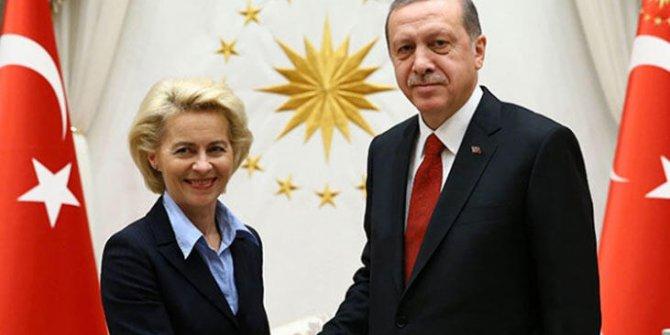 Erdoğan, AB Komisyon Başkanı Leyen ile görüştü