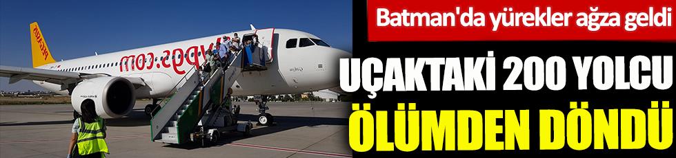 Uçaktaki 200 yolcu ölümden döndü! Batman'da yürekler ağza geldi