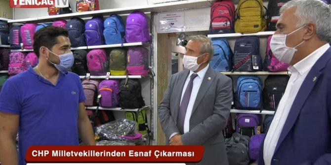 CHP'li vekiller dinledi Yeniçağ TV esnafın isyanını böyle tarihe kaydetti