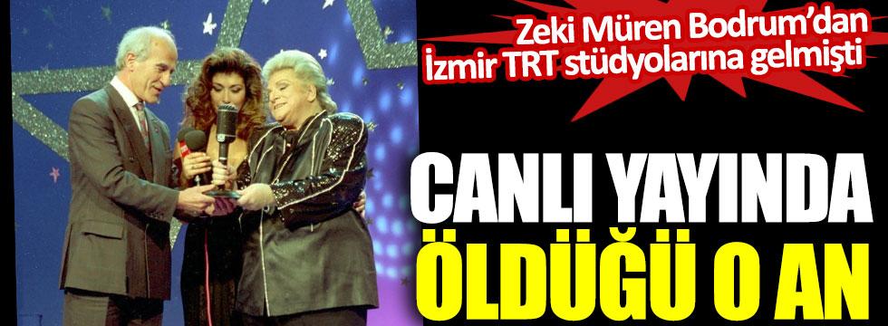 Zeki Müren Bodrum'dan İzmir TRT stüdyolarına gelmişti. Canlı yayında ödülü aldıktan sonra öldü