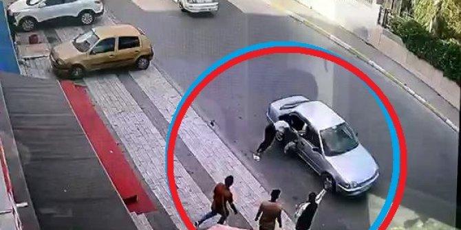 Genç kadın sokak ortasında dehşeti yaşadı, metrelerce sürüklendi