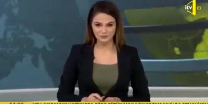 Azerbaycan kanalında spiker gözyaşlarını tutamadı