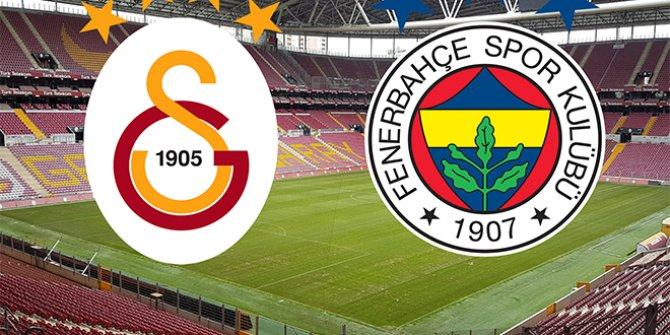 Galatasaray ve Fenerbahçe'nin 11'leri belli oldu