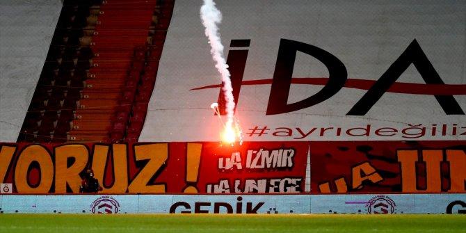 Seyircisiz oynanan Galatasaray-Fenerbahçe derbisinde öyle bir şey oldu ki herkes şaştı kaldı