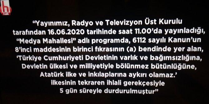 RTÜK kararı doğrultusunda 5 gün Halk TV ekranı karartıldı