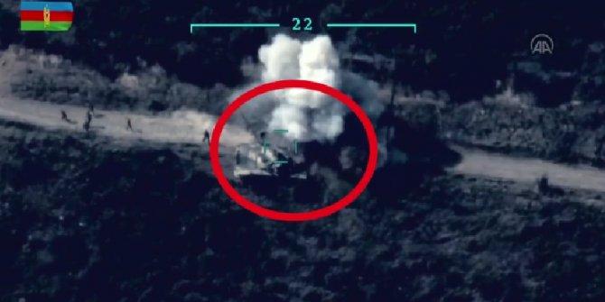 Azerbaycan füzeleri, Ermenistan tankını böyle havaya uçurdu!