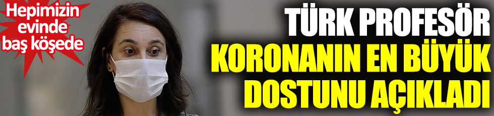 Türk profesör koronanın en büyük dostunu açıkladı! Hepimizin evinde baş köşede
