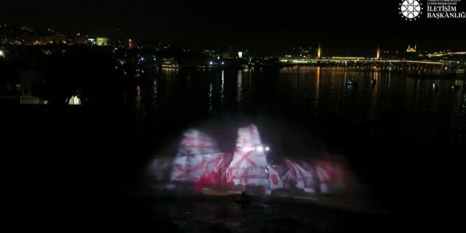 Preveze Deniz Zaferi'nin yıl dönümünde hologram gösterisi