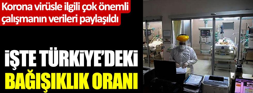 Korona virüsle ilgili çok önemli  çalışmanın verileri paylaşıldı: İşte Türkiye'deki bağışıklık oranı
