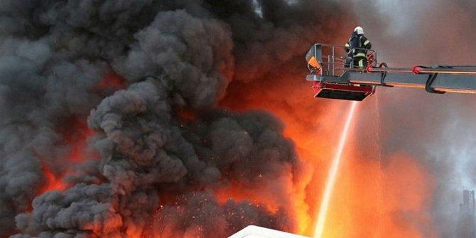 Denizli'deki yangında büyük hasar