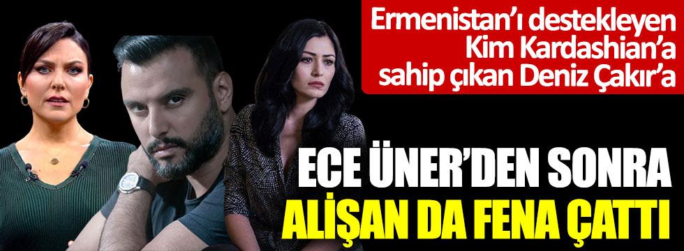 Ermenistan'ı destekleyen Kim Kardashian'a sahip çıkan Deniz Çakır'a Ece Üner'den sonra Alişan da fena çattı