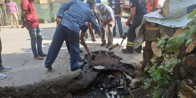 Kanalizasyona düşen köpek itfaiye ekipleri tarafından kurtarıldı