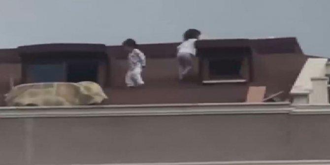 Çatı camından firar ettiler, biri 2 diğeri 3 yaşında, bu nasıl aile