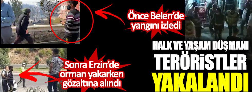 Hatay'da orman yakan iki hain Belen ve Erzin'de yakalandı