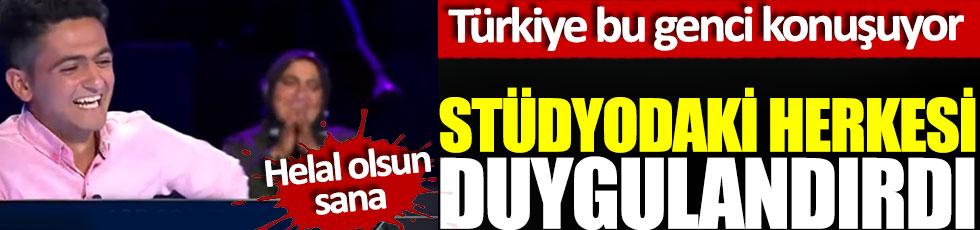 Stüdyodaki herkesi duygulandırdı, Türkiye bu genci konuşuyor, helal olsun sana