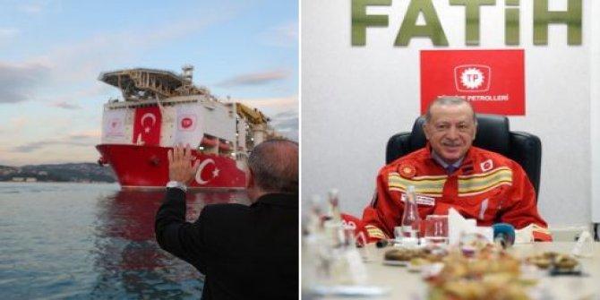 Cumhurbaşkanı Erdoğan'dan dikkat çeken Fatih sondaj gemisi paylaşımı