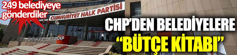 CHP'den belediyeler bütçe kitabı. 249 belediyeye gönderdiler