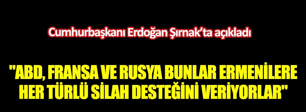Cumhurbaşkanı Erdoğan Şırnak'ta açıkladı