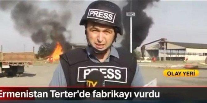 Ermenistan'ın füzeleri Türk gazetecilerin arkasında patladı. Yeni görüntüler ortaya çıktı