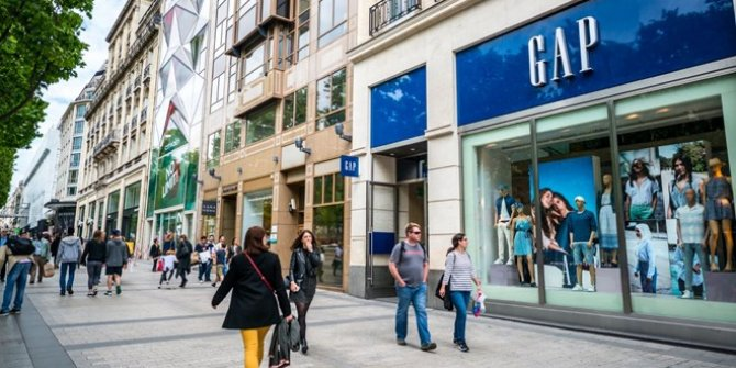 Ünlü giyim markası GAP, Avrupa'daki mağazalarını kapatıyor