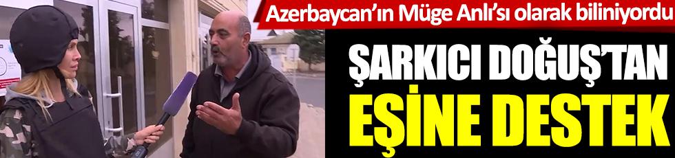 Azerbaycan'ın Müge Anlı'sı olarak biliniyordu. Şarkıcı Doğuş'tan eşine destek