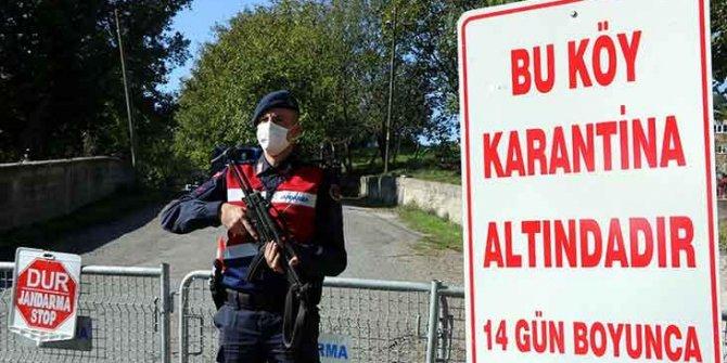 23 kişi koronaya yakalandı, köy karantinada