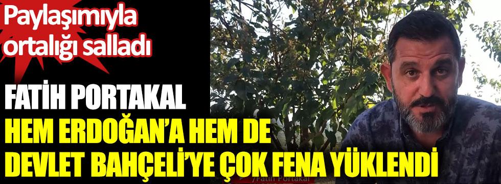 Fatih Portakal hem Cumhurbaşkanı Erdoğan'a hem de Devlet Bahçeli'ye çok fena yüklendi. Paylaşımıyla ortalığı salladı