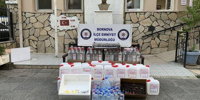 Sahte içki satılan dükkana operasyon