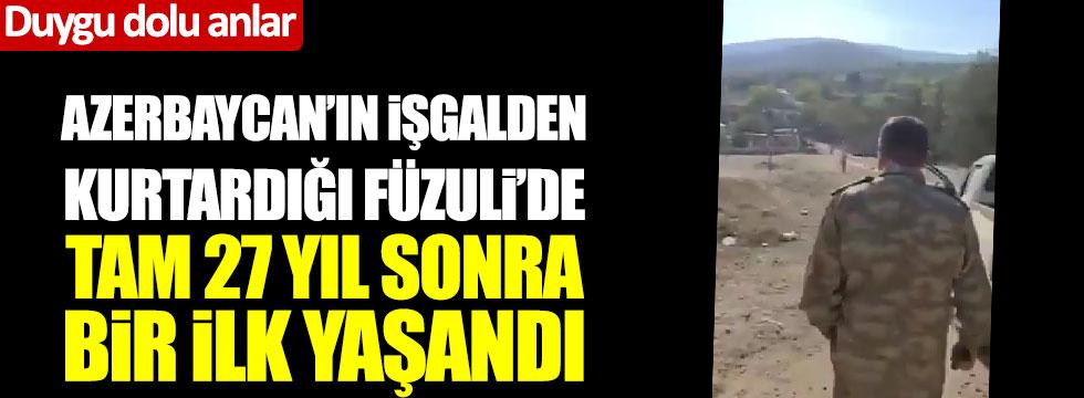 Sinan Oğan paylaştı: Azerbaycan'ın işgalden kurtardığı Füzuli'de tam 27 yıl sonra bir ilk yaşandı